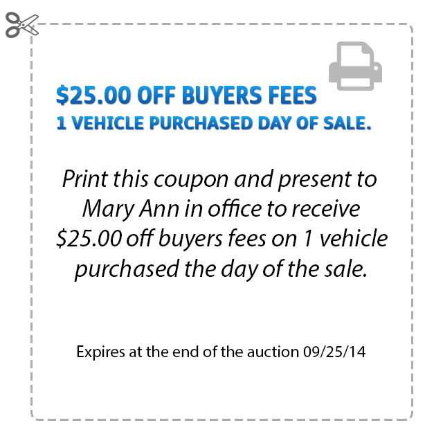 Buyer Fee Coupon